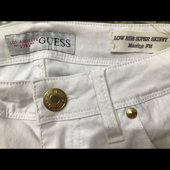 Guess Low Rise Super Skinny Pants Guess Low Rise Super